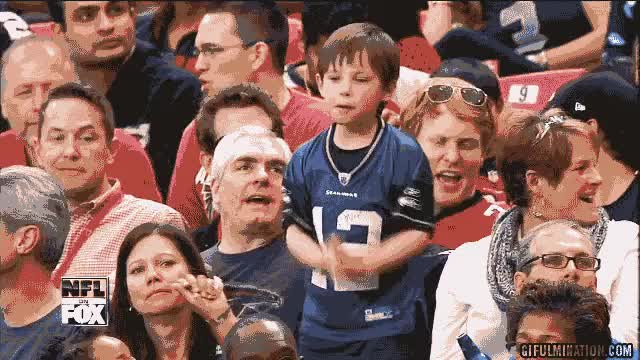 Watch and share Dancing Seahawks Kid Dancing Sports Fan Gifs GIFs on Gfycat
