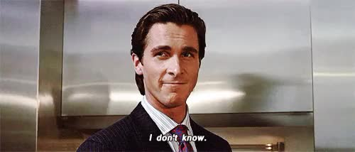 Watch and share Christian Bale GIFs and I Don't Know GIFs on Gfycat