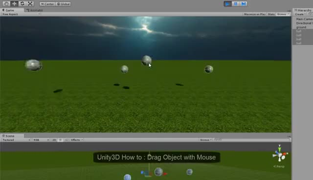 Watch and share Unity3D How To : Drag Object With Mouse GIFs on Gfycat