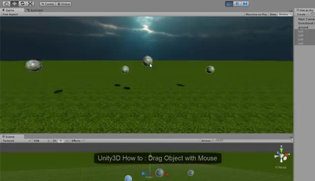Unity3D How to : Drag Object with Mouse GIFs