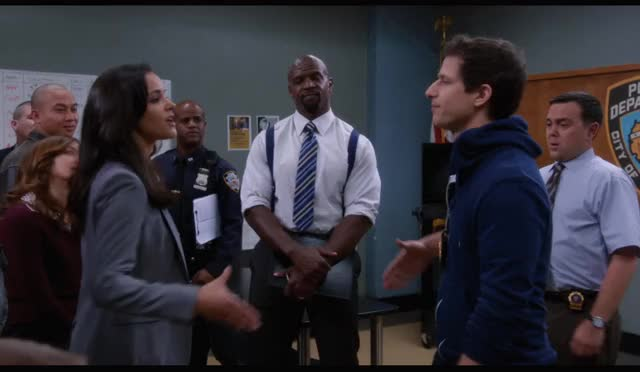 Watch Firm Handshake LG GIF on Gfycat. Discover more andy samberg, celebs, joe lo truglio, melissa fumero, stephanie beatriz GIFs on Gfycat