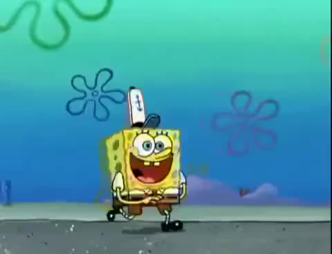 Watch and share Spongebob Skipping GIFs on Gfycat