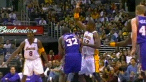 010503, 2000s, 200203, Basketball, Block, Los Angeles Lakers, NBA, Shaquille O'Neal, gif, Shaquille O'Neal  Los Angeles Lakers GIFs