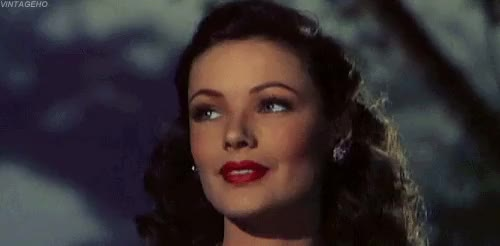 Watch Gene Tierney in Leave Her To Heaven (1945) GIF on Gfycat. Discover more 1940s, 1945, film, gene tierney, leave her to heaven, my gif, noirvember, old hollywood, vintage GIFs on Gfycat