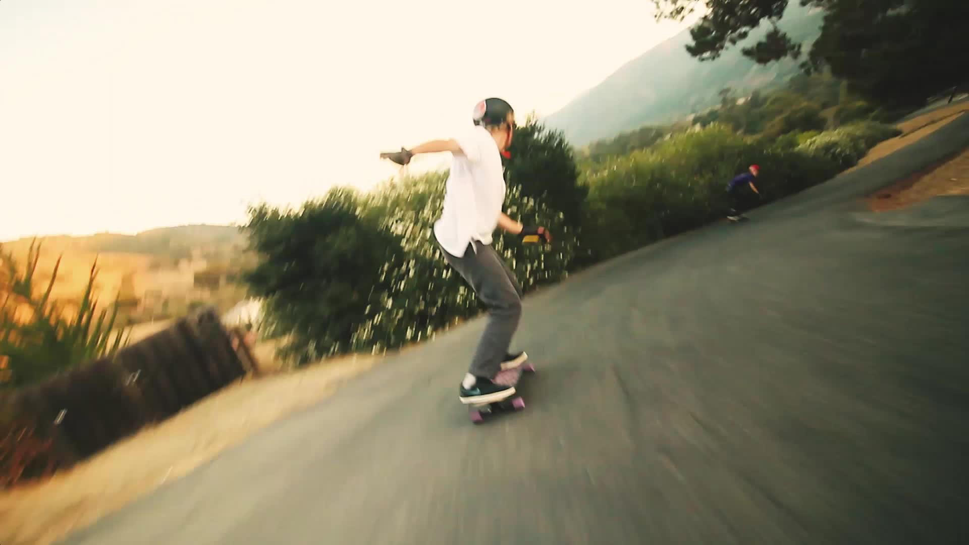longboarding, Jett Davis smashes a heelside pre drift. GIFs