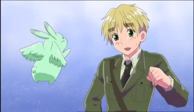 Watch and share Flying Mint Bunny GIFs and Hetalia GIFs on Gfycat