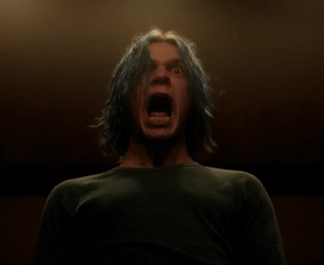 Watch this trending GIF by The GIF Smith (@sannahparker) on Gfycat. Discover more AHS, Evan Peters, american horror story, cult, horror, scream, terror, wtf GIFs on Gfycat