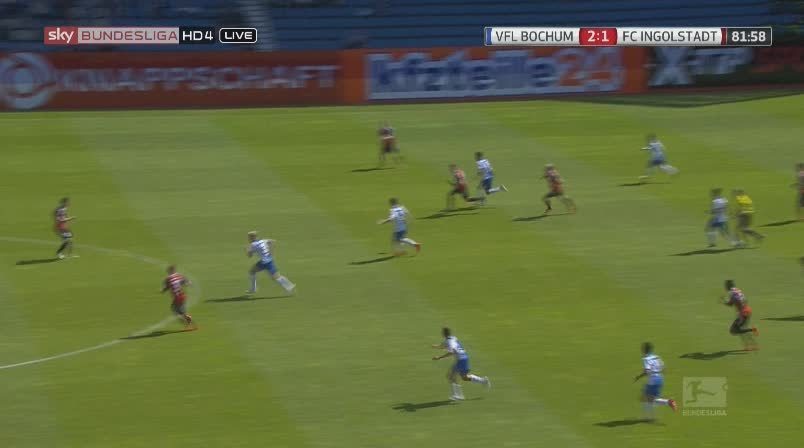 soccergifs, Tasaka Goal - Bochum vs. Ingolstadt (3:1) (reddit) GIFs