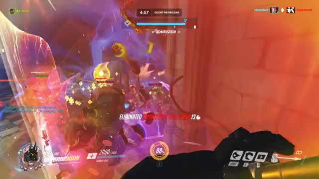 Watch Rein TP GIF by Dylan Miliano (@dalfarero) on Gfycat. Discover more charge, fail, gg, overwatch, reinhardt, wtf GIFs on Gfycat
