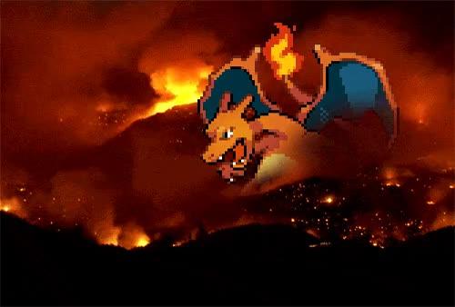 Watch and share Pokemon Charizard Volcano Fire Smoke Gif Pixel Art Photo Info   Like GIFs on Gfycat