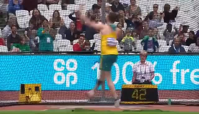 Watch and share Guy Henly   Silver – Men's Discus F37 Final   London 2017 World Para Athletics Championships GIFs on Gfycat