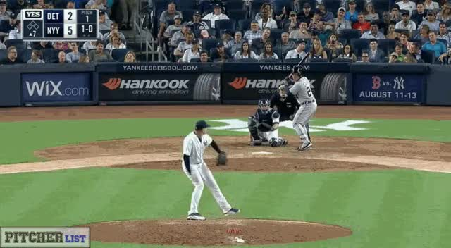 Watch and share Dellin Betances CBs 7-31-17 GIFs on Gfycat