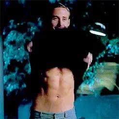 ryan gosling shirt off