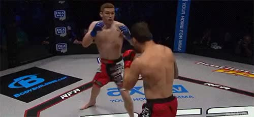 Watch mma-gifs GIF on Gfycat. Discover more gif, knkockout, ko, martial arts, mma, resurrection fighting alliance, rfa, scott thometz, sports, tickle fight GIFs on Gfycat