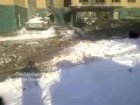 Watch and share МТЛБ ДНР Vs Дом - MTLB Vs Building (reddit) GIFs by forte3 on Gfycat