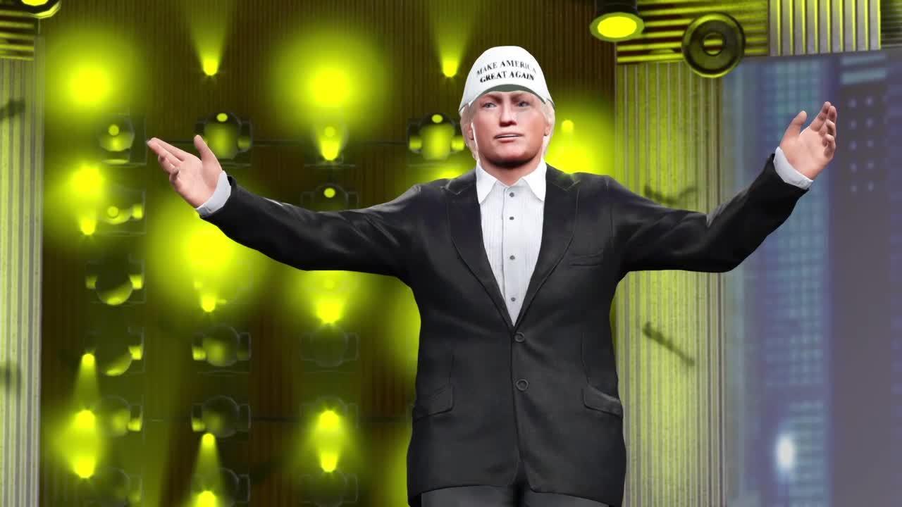 Gaming, WrestlingMemes, wwegames, Donald Trump vs A Wrestling Meme ???? GIFs