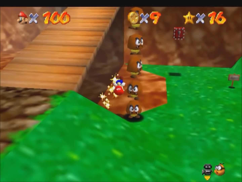 64, hifw, mario, Super Mario 64 Goomba Ladder GIFs