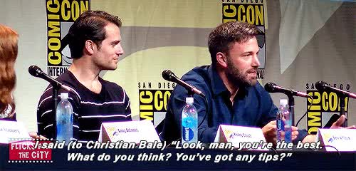 Watch and share Christian Bale GIFs and Henry Cavill GIFs on Gfycat