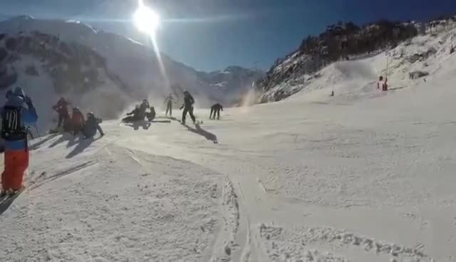 Watch and share Ski Accident GIFs on Gfycat