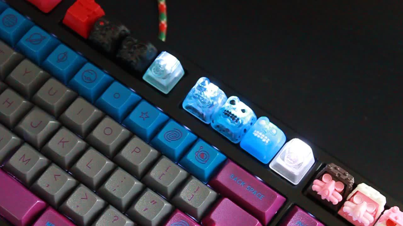 mechanicalkeyboards, Custom Caps Light show GIFs
