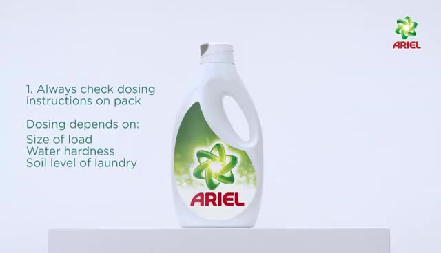 Watch How to Dose Liquid Detergent - Ariel GIF on Gfycat. Discover more related GIFs on Gfycat