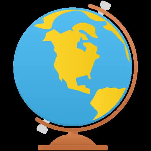 Watch and share Globe-icon animated stickers on Gfycat