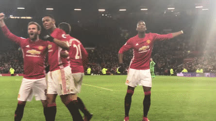 Pogba dance after the Winner - GIF • r/reddevils GIFs