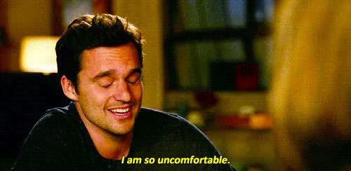 Watch new girl, nick miller, uncomfortable GIF on Gfycat. Discover more jake johnson GIFs on Gfycat