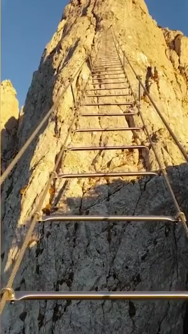 Watch and share This Ladder Connecting Two Mountains In Austria Is A Hard Nope  - Imgur GIFs by Kathleen Ema on Gfycat