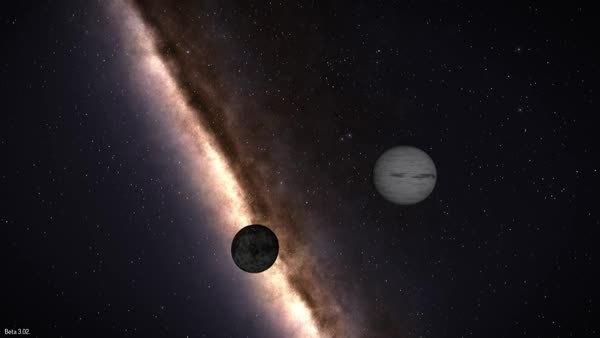 elitedangerous, A small moon orbiting a gas giant (reddit) GIFs