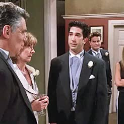 Watch and share David Schwimmer GIFs and Elliott Gould GIFs on Gfycat