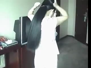 TyingAPonytail, tyingaponytail, Long Beautiful Ponytail cutting Part 1 GIFs