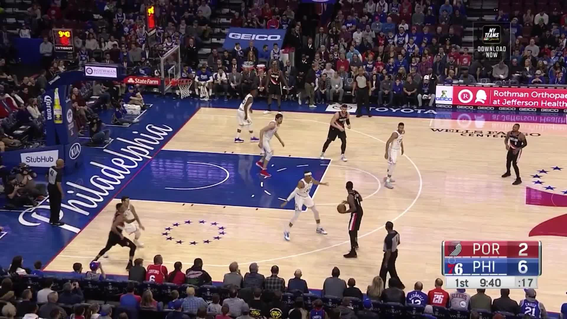 NBA, Philadelphia 76ers, Portland Trail Blazers, basketball, Boban standing still GIFs