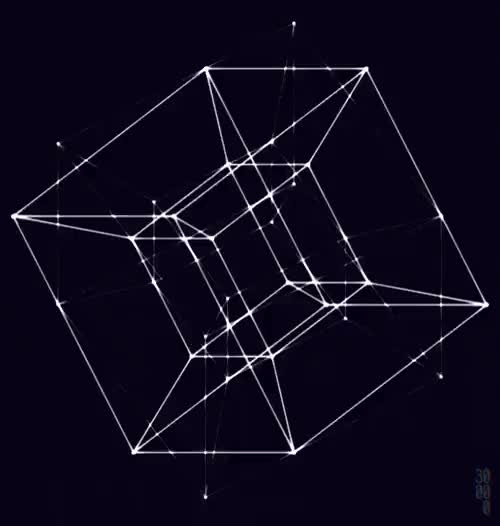 Watch and share Tesseract GIFs and Wireframe GIFs on Gfycat