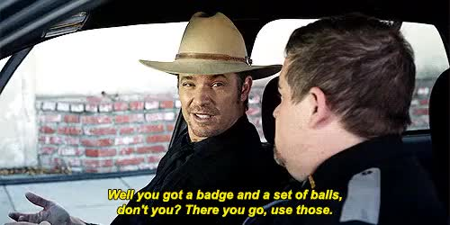 Watch and share Justified Spoilers GIFs and Timothy Olyphant GIFs on Gfycat