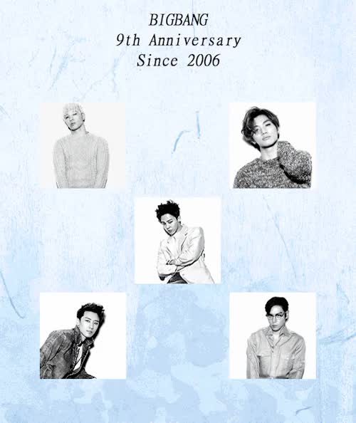 Watch  HAPPY 9TH ANNIVERSARY BIGBANG  GIF on Gfycat. Discover more anniversary, bigbang, bigbang 2015, choi seunghyun, daesung, gd, jiyong, kang daesung, lee seunghyun, seunghyun, seungri, taeyang, top, yg, yg family, youngbae, 빅뱅 GIFs on Gfycat