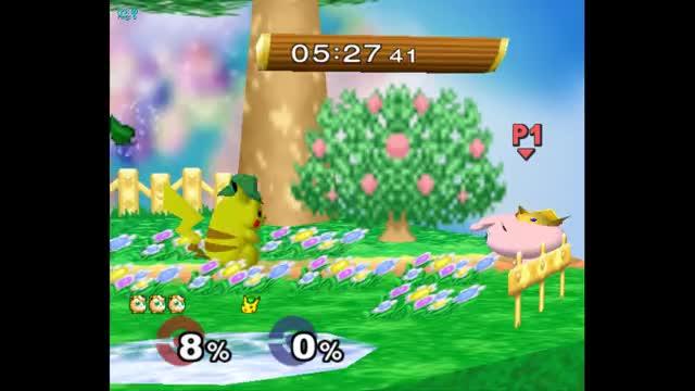 Watch Pikachu v Jiggs combo GIF on Gfycat. Discover more smashgifs, ssmb GIFs on Gfycat