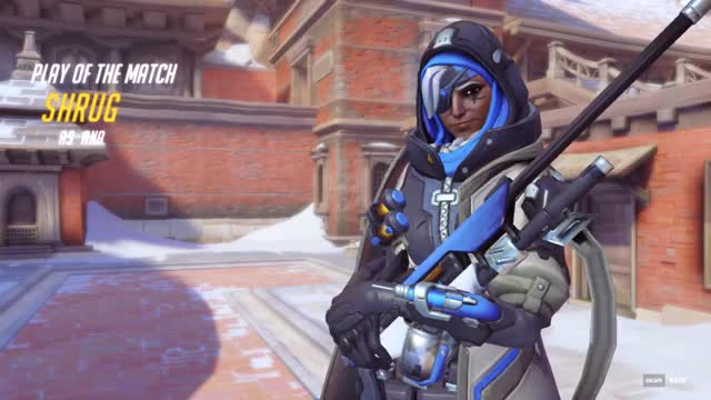 Watch and share Ana Amari GIFs and Overwatch GIFs by shrugging on Gfycat