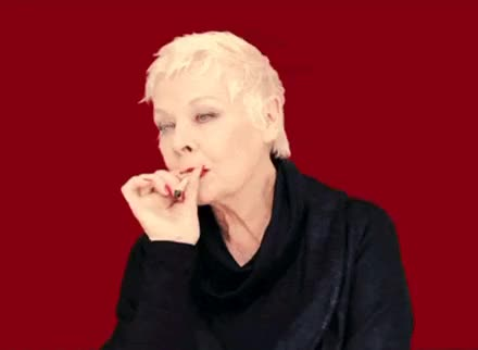 Watch and share Dame Judi Dench GIFs and Not Healthy GIFs on Gfycat