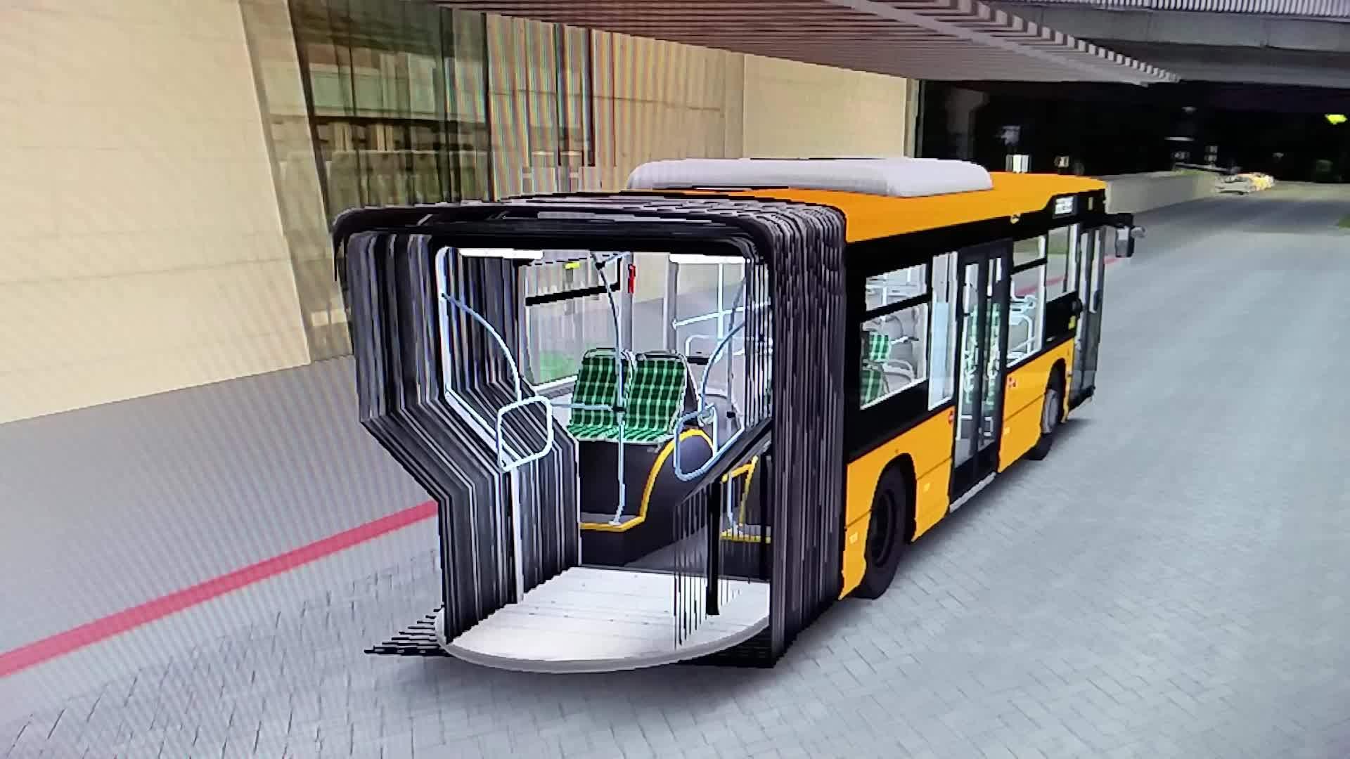 gamephysics, Driving half a bus OMSI 2 GIFs