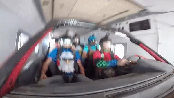 Skydiving in a car GIFs