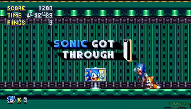 Watch and share Sonic Mania - All Bosses & Ending GIFs on Gfycat