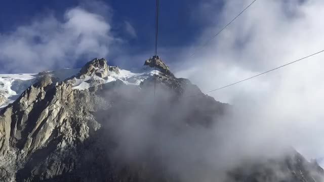Watch and share Clouds Seen From The Cable Car Of The Aiguille Du Midi GIFs by tribulu on Gfycat