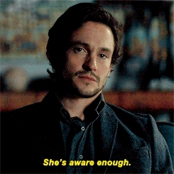 Hugh Dancy, bedelia du maurier, fuckyeahannibal, hannibal, hannibaledit, hannigram, his face though, like it took 5mn to have an answer lmao, my edits, nbchannibal, q, she's on fire, will graham, graham cracker GIFs