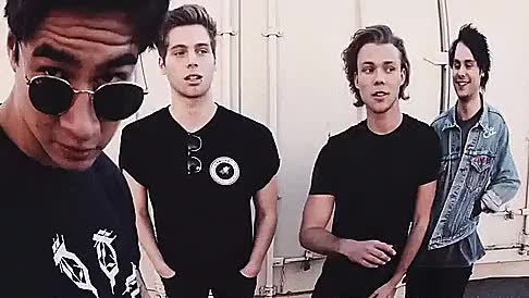 Watch She's Kinda Hot - Announcement GIF on Gfycat. Discover more 5 seconds of summer, 5onthewall, 5sos, ashton irwin, calum hood, luke hemmings, michael cliford, my gif, sexycliffconda, she's kinda hot GIFs on Gfycat