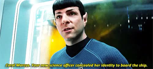 Watch you almost make me believe in miracles GIF on Gfycat. Discover more ???, erikxno, flashing lights cw, mine, so is star trek beyond just going to pretend carol doesn't exist or??, spirk, star trek into darkness, trekedit, where tf has alice eve been GIFs on Gfycat