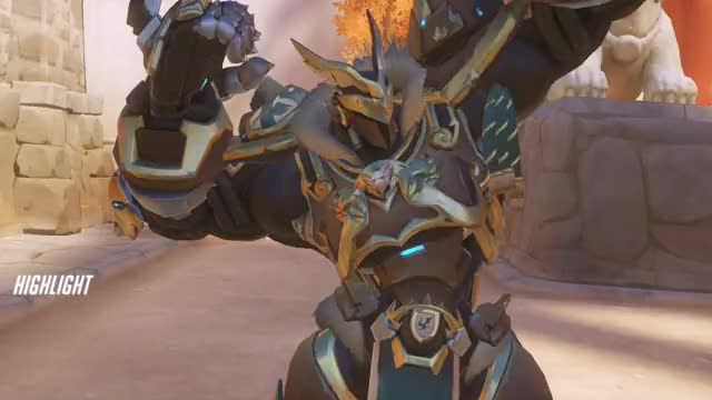 Watch and share Overwatch GIFs and Reinhardt GIFs by Jeremy on Gfycat
