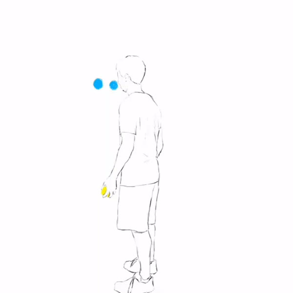 juggling, rotoscope + juggling = awesome animation GIFs