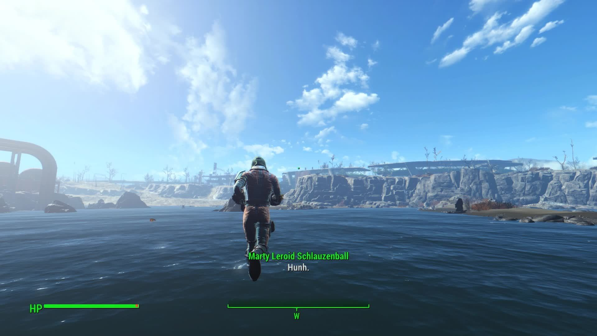 gamephysics, [Fallout 4] Just Like a Flying Fish! GIFs