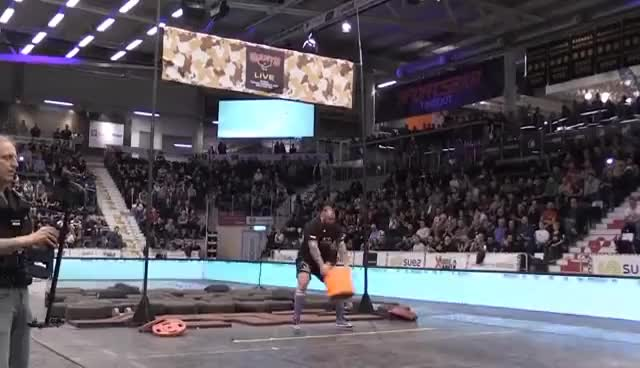 Watch and share Hafþór Björnsson Aka 'The Mountain' From Game Of Thrones  Does World Record Keg Toss GIFs on Gfycat